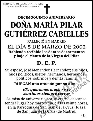 María Pilar Gutiérrez Cabielles